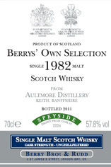 1982 Berrys' Own Selection Aultmore