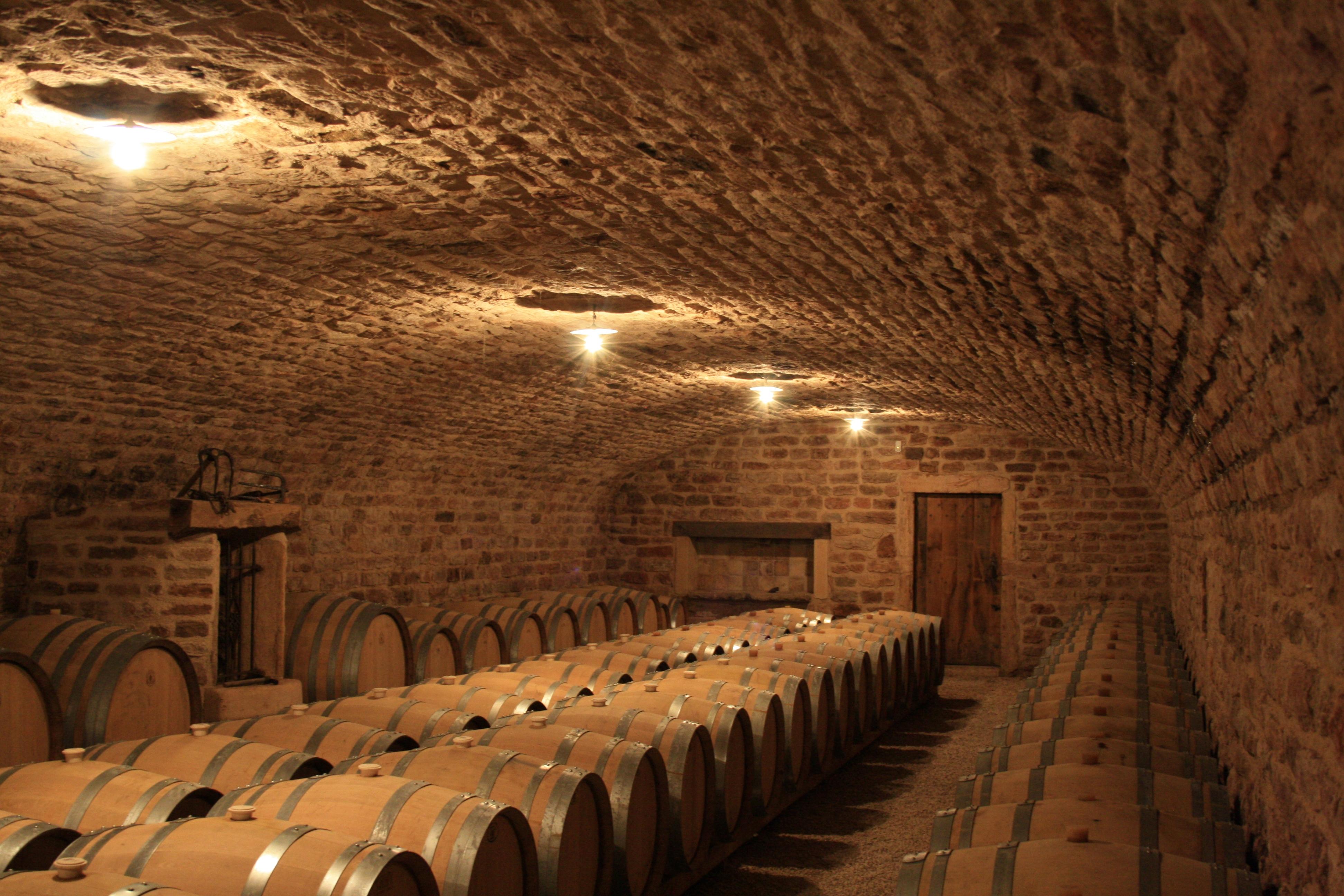 Cellar at Domaine des Deux Roches