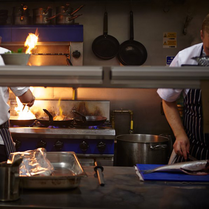 In the kitchen at The Quality Chop House. Photograph: Patricia Niven