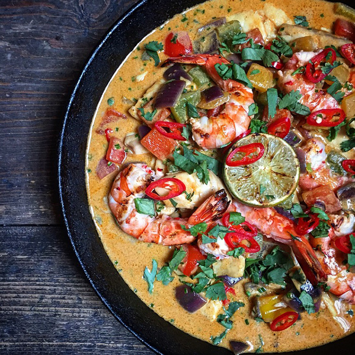 Moqueca (Brazilian fish stew) Serves 4-6