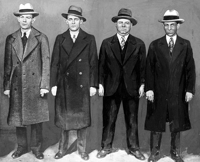Ed Diamond, shot; Legs Diamond, shot; Fatsy Walsh, electrocuted; Lucky Luciano, poisoned. Photograph: Getty Images