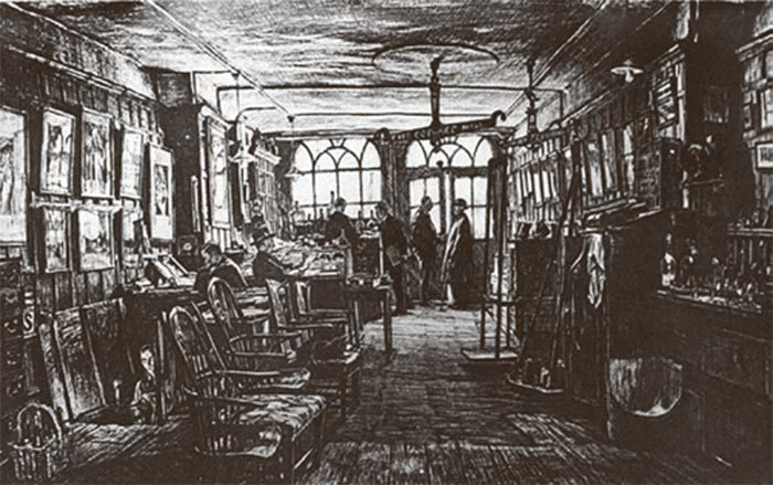 An etching of No.3 as it was in 1925 by Sir Muirhead Bone; the original hangs in our cellars today.