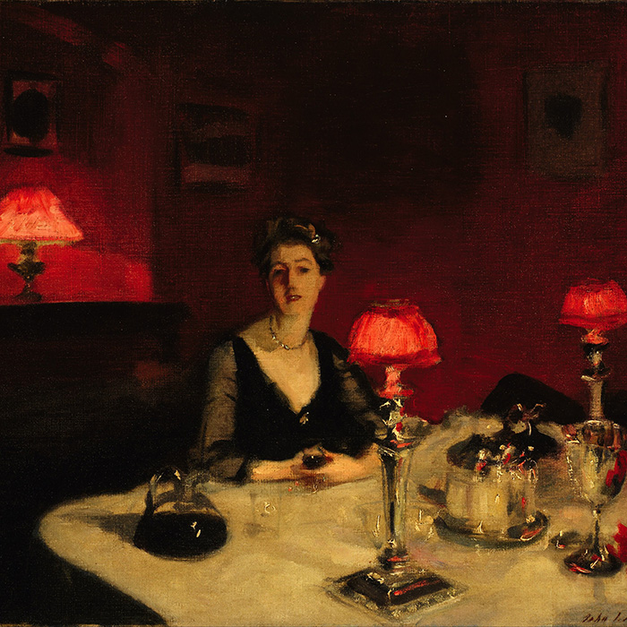 Vintage port: John Singer Sargent - Le verre de porto (A Dinner Table at Night) credit: Wikimedia Commons