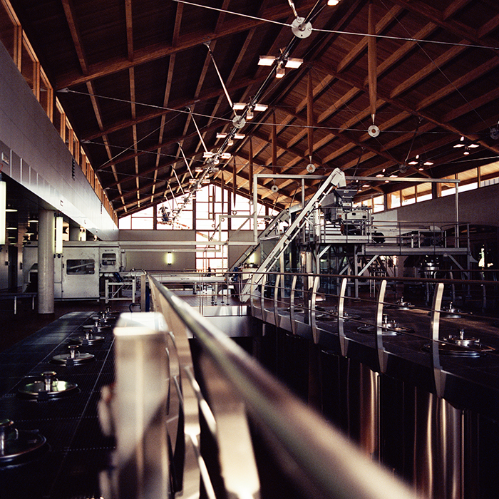 The state-of-the-art winery at Vega Sicilia. Photograph: Jason Lowe