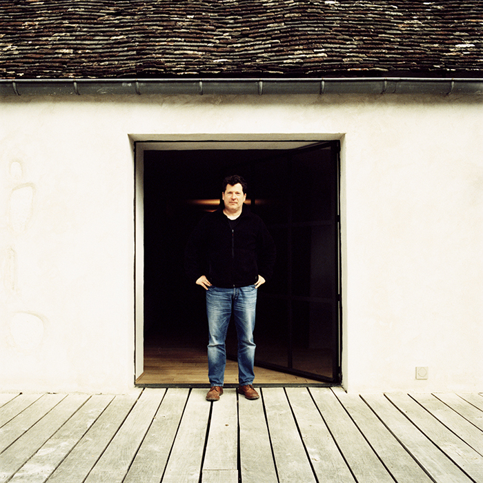Olivier Bernstein, photographed at his cellar in Beaune by Jason Lowe