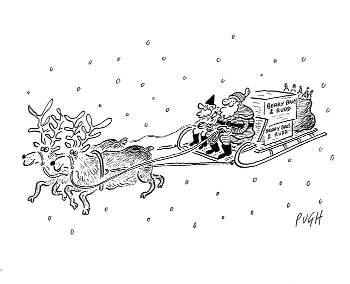 Santa Sleigh Illustration: Jonathan Pugh who is published each day in The Daily Mail