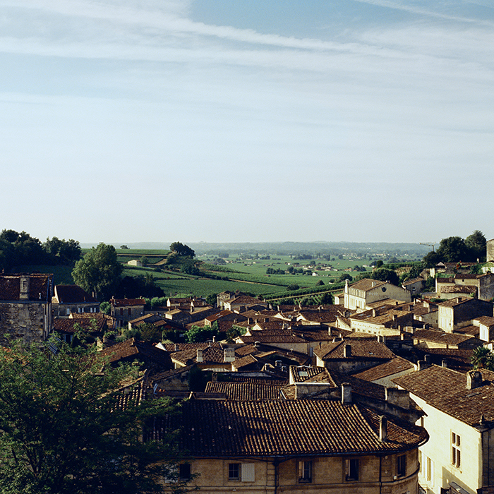 A view out over St Emilion, on Bordeaux's Right Bank. Photograph: Jason Lowe