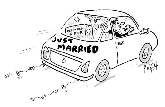 Just Married. Cartoon: Jonathan Pugh, who is published each day in The Daily Mail