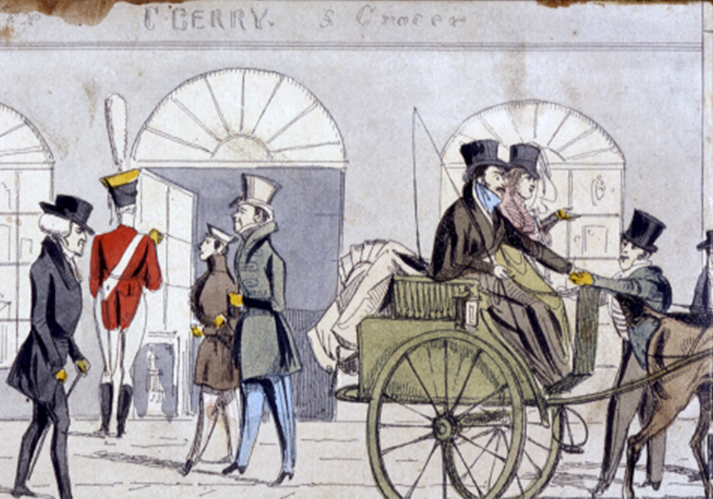 A historical illustration of Berry Bros. & Rudd at No.3 St James's Street