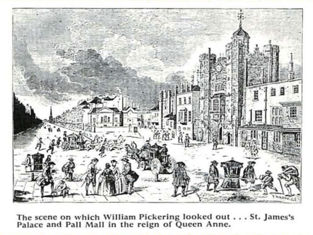 St James's Street during the reign of Queen Anne