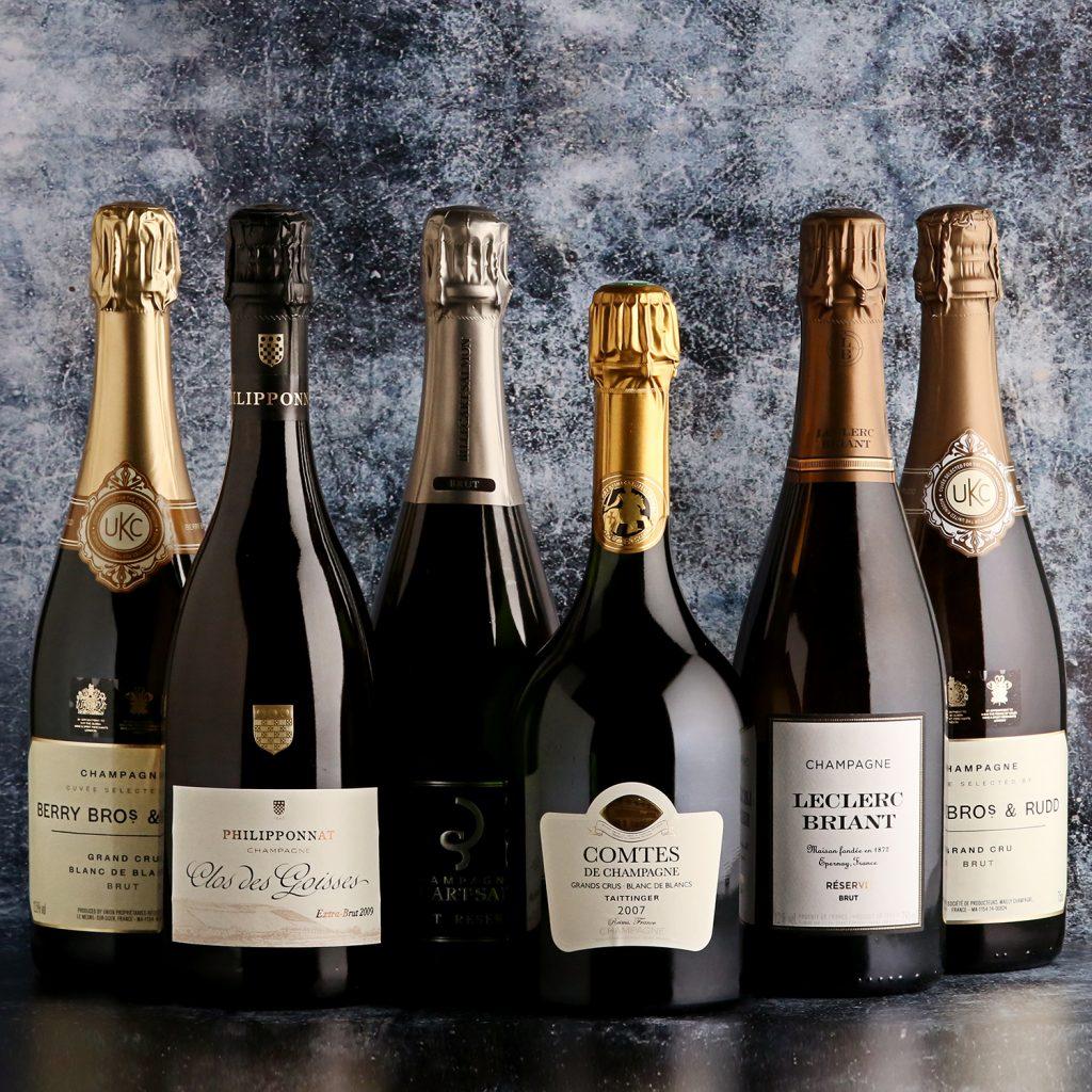 A selection of prestige cuvée Champagnes