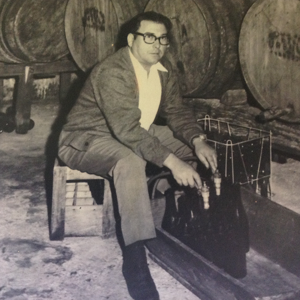 Benito Santos, the winery's founder and a pioneer of Albariño wines