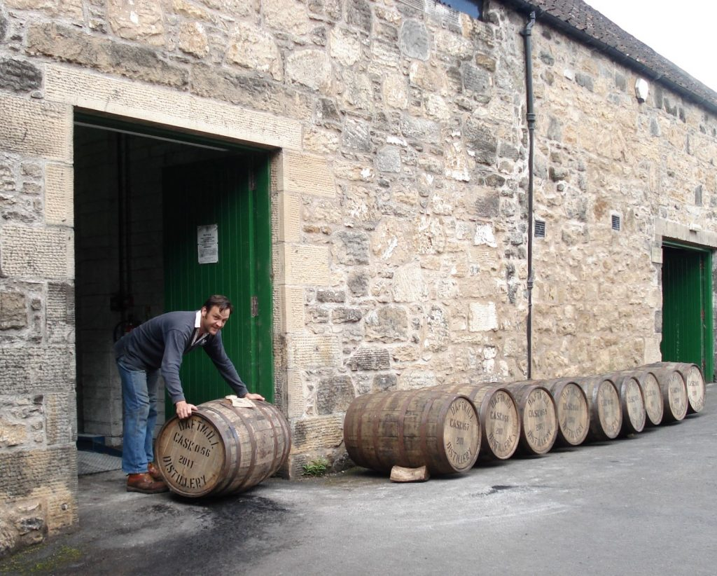 Barrels at Daftmill, one of the new collectable whiskies