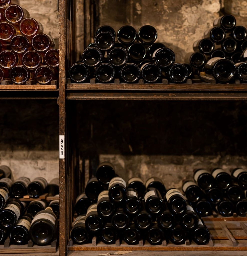 Bottles quietly mature in the cellars beneath St James's