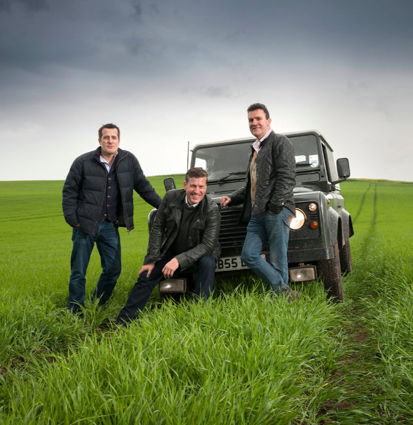 John, David and Iain Stirling from Arbikie Distillery