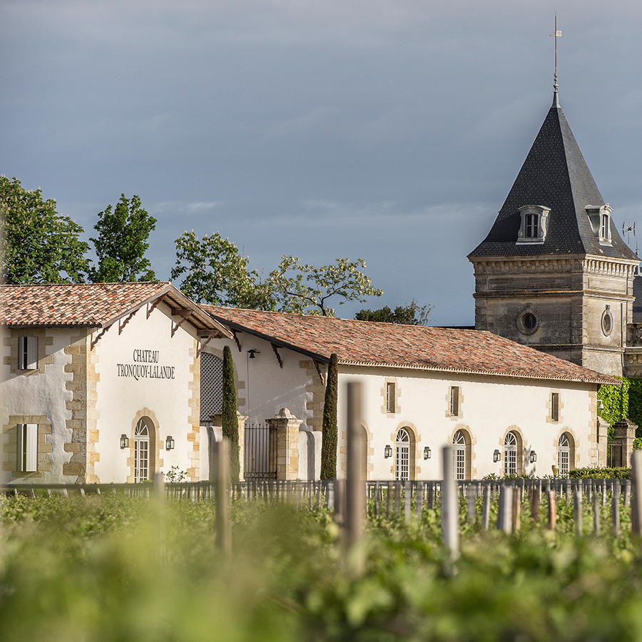 The view from the vineyard of Château Tronquoy-Lalande, who make our Own Selection St Estèphe for us.